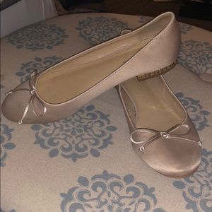 ZARA nude satin ballerinas with studded heel 9